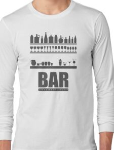 Bar Typography Cool Long Sleeve T-Shirt