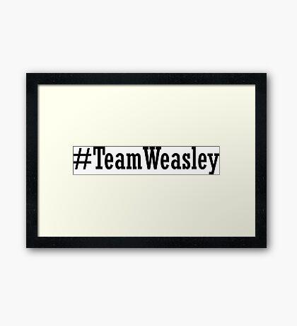Team Weasley Framed Print