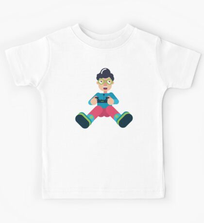 Boy with drone-remote Kids Tee