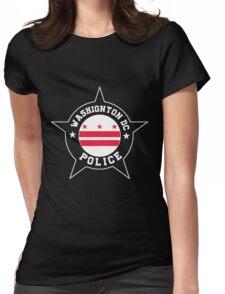 Washington DC Police T Shirt - Washington DC flag Womens Fitted T-Shirt