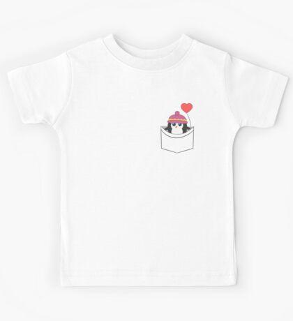 Cute penguin in my pocket Kids Tee