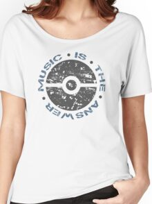 Music Is The Answer Quote Text Typography Women's Relaxed Fit T-Shirt