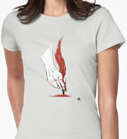 Written In Blood Womens Fitted T-Shirt