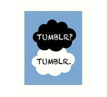 Tumblr/TFIOS Art Print