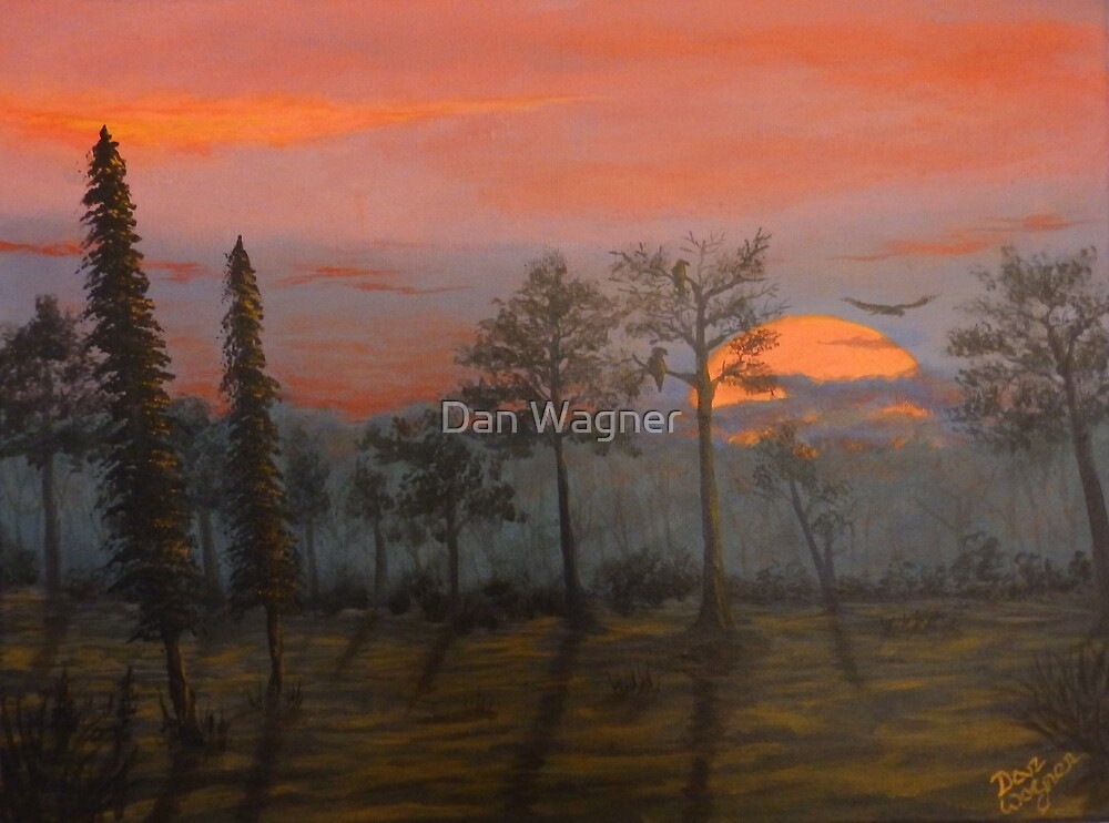 Silent Sentinels in the Sunset. by Dan Wagner