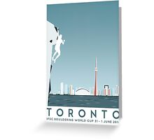 IFSC Bouldering World Cup - Toronto Greeting Card