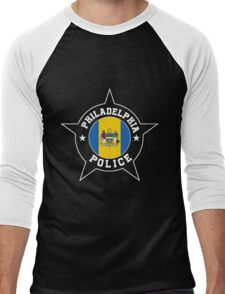 Philadelphia Police T Shirt - Philadelphia flag Men's Baseball ¾ T-Shirt