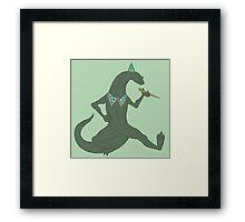 Lizard Wizard Halloween Design Framed Print