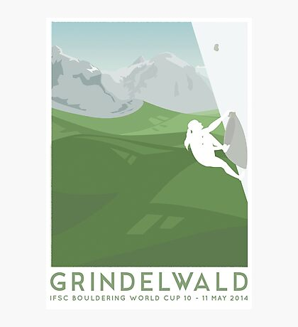 IFSC Bouldering World Cup - Grindelwald Photographic Print