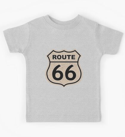 Route 66 sign illustration Kids Tee