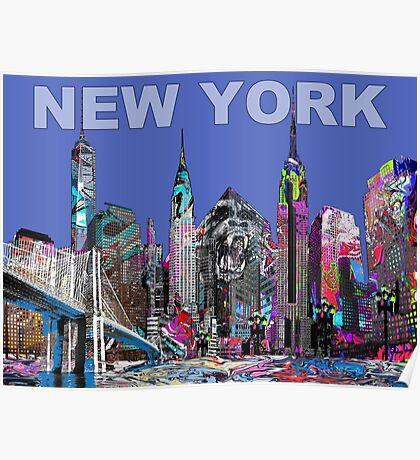 New York Graffiti Poster