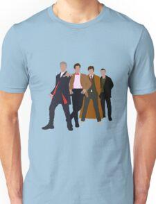 Doctor Who - 4 Modern Doctors Unisex T-Shirt