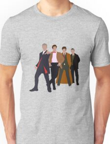 Doctor Who - 4 Modern Doctors Unisex T-Shirt