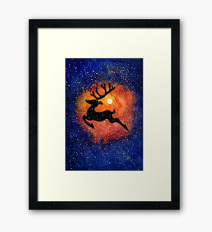 The Magic Reindeer Framed Print
