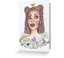 Earth Woman Greeting Card