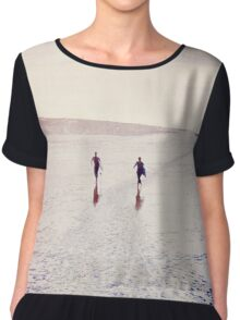 Surfers in the snow. Top mousseline femme