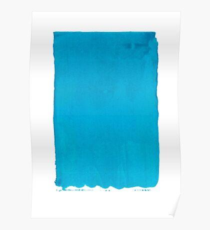 Blue Screen Print Poster