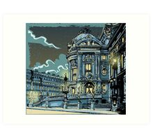 Opéra de Paris at Night Art Print