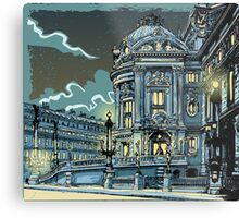 Opéra de Paris at Night Metal Print