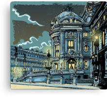Opéra de Paris at Night Canvas Print