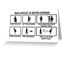 Rickroll Rick Roll Astley Retro Cool Funny Geeks Greeting Card