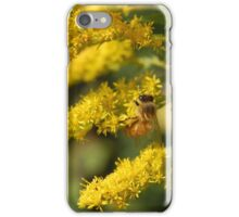 Bee with Yellow Flowers iPhone Case/Skin