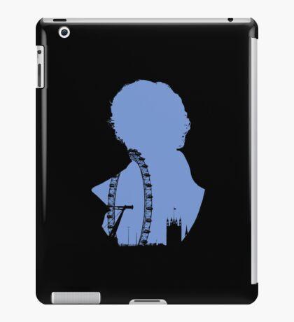 Sherlock Silhouette - Blue iPad Case/Skin