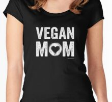 Vegan Mom T-Shirt - Cute Mother's Day Gift Idea Women's Fitted Scoop T-Shirt
