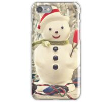 Vintage Snowman iPhone Case/Skin