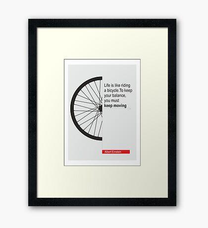 Thought of Albert Einstein Framed Print