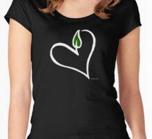 Cute Vegan Heart T-Shirt Women's Fitted Scoop T-Shirt