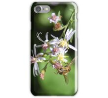 Bee with White Flowers iPhone Case/Skin