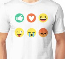 I Love Basketball Emoji Emoticon Graphic Tee Funny Unisex T-Shirt