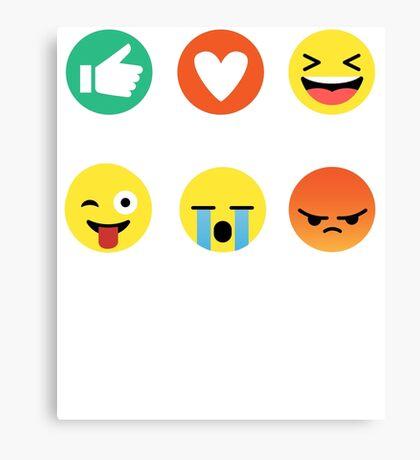 I Love Basketball Emoji Emoticon Graphic Tee Funny Canvas Print