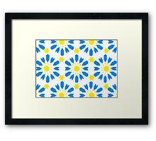Geometrical Floral Decor Framed Print