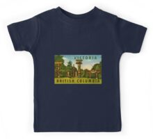 Victoria British Columbia BC Vintage Travel Decal Kids Tee