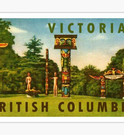 Victoria British Columbia BC Vintage Travel Decal Sticker