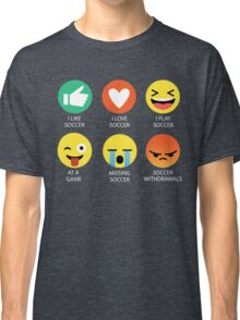 I Love Soccer Emoji Emoticon Graphic Tee Shirts Classic T-Shirt