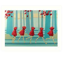 5 Lil Reds I Art Print