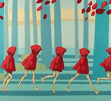 5 Lil Reds I by Maria Evestus
