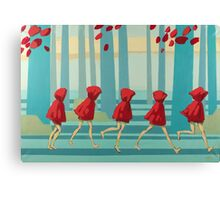 5 Lil Reds I Canvas Print