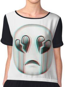 Grunge Emoji Chiffon Top