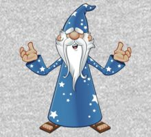 Blue Old Wizard Looking Confused Kids Clothes