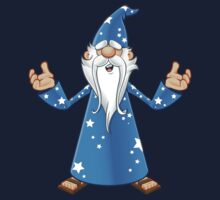 Blue Old Wizard Looking Confused Kids Tee
