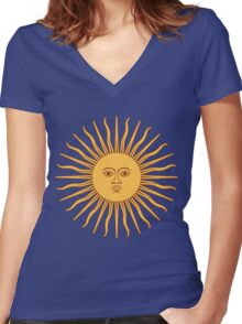 Sol de Mayo- The Sun of May Women's Fitted V-Neck T-Shirt