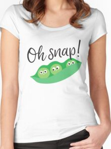 Peas. Oh Snap! Women's Fitted Scoop T-Shirt