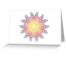 Keep calm and wear mandalas Greeting Card