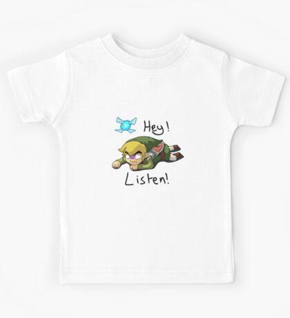 Link & Navi - The Legend Of Zelda Kids Tee