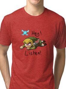Link & Navi - The Legend Of Zelda Tri-blend T-Shirt
