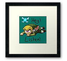 Link & Navi - The Legend Of Zelda Framed Print